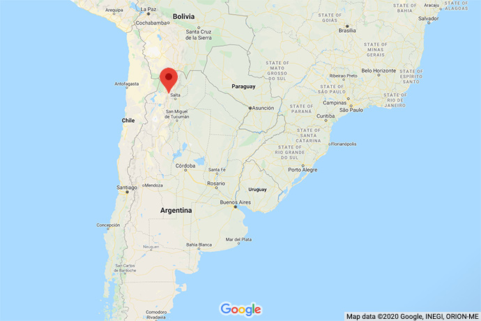 Argentina-Andes-map