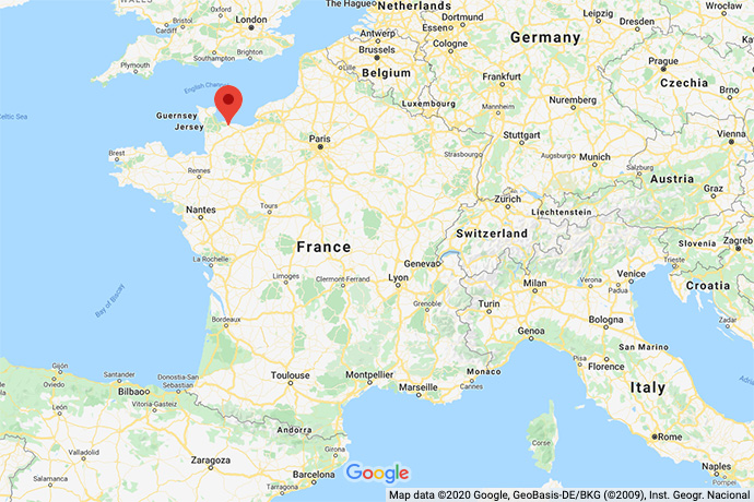 France-Normandy-map